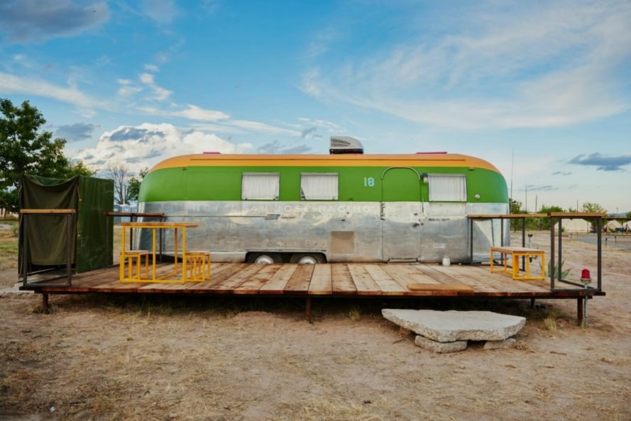 El Cosmico Trailer Park, restored trailers, retro trailer park, el cosmic trailer homes, restored trailer parks, off grid living, marfa, texas, marfa trailer park, off grid trailers, trailer conversions, van conversions, nomadic living, yurts in marfa, camping in marfa, trailer rentals marfa