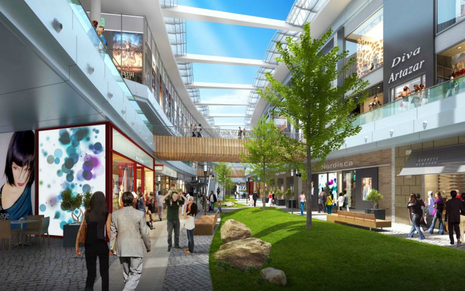 Innovative Retractable Glass Roof Can Convert A Mall Into