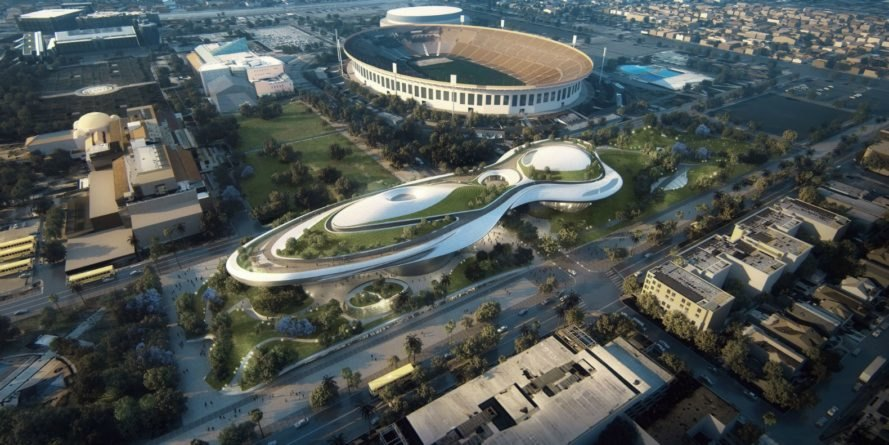Lucas Museum of Narrative Art, george lucas, george lucas museum, MAD architects, Ma Yansong Lucas Museum, art museums, lucas art museum, film museums, modern art musuems, museum design, star wars exhibitions, los angeles museums, green space, green roof, futuristic architecture, public parks la, la museums