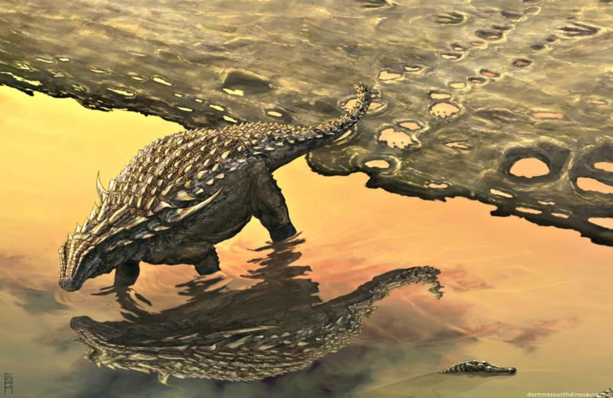 nodosaur, Alberta, Canada, miners, 110-million-years-old