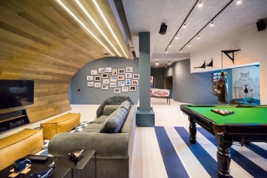 man cave, teen man cave, renovated family room, temporary escape