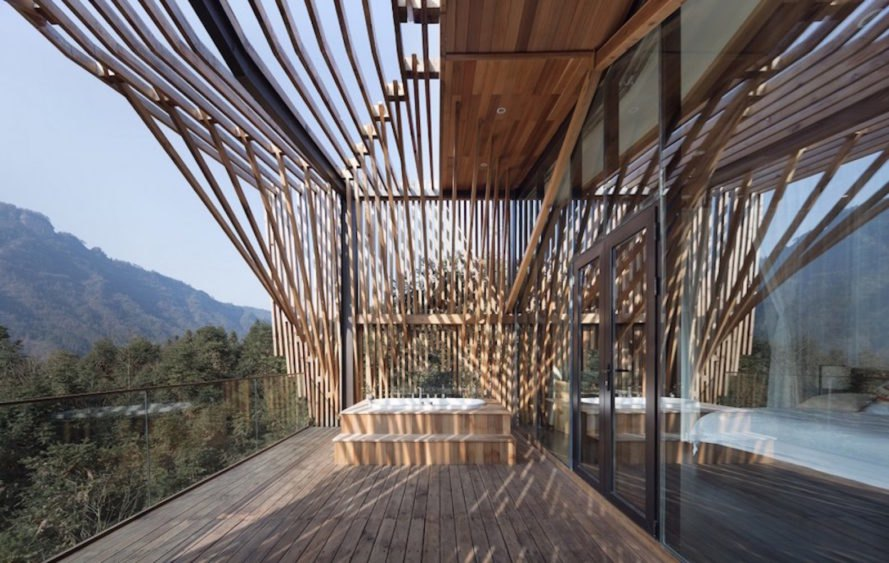 Treehouse M By Land Studio, Mount Qiyun Treehouse, Treehouse Modern China,  Treehouse Forest