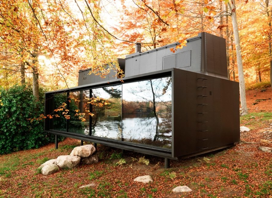 Vipp, vipp cabins, prefabricated shelters, cabin design, recharging cabins, off grid cabins, prefab housing, energy efficiency, of grid living, nature retreat, minimalistic cabins, off grid retreat