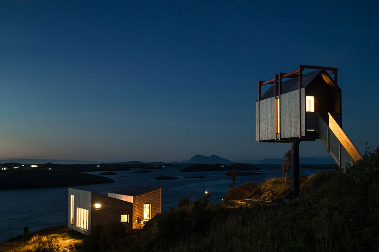 Norways Fleinvaer Cabins Offer The Ultimate In Off Grid Living On A Remote Island on Mountain Homes Design Kitchen