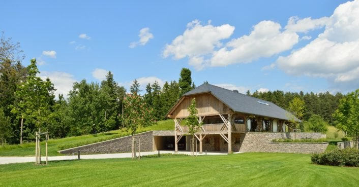 Architects transform 150-year-old Slovenian hay barn into a stunning contemporary home