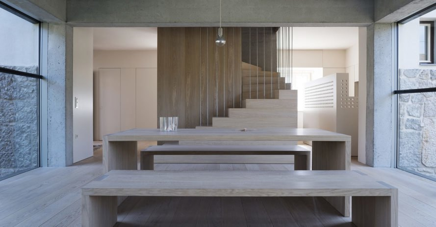 3Shoebox House, Ofis Arhitekti, green renovation, Ljubljana, natural light, staircase, concrete, podium, green architecture