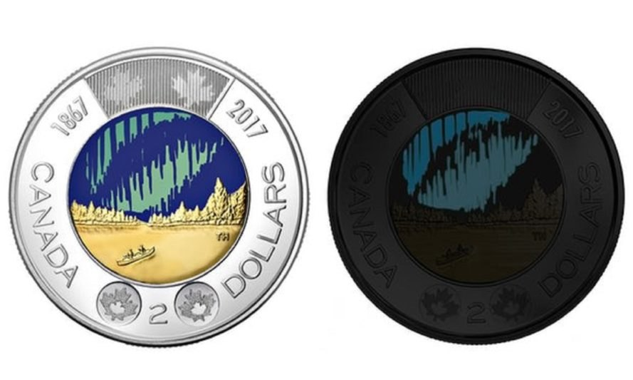 Canada, Toonie, Glow-in-the-Dark, coin