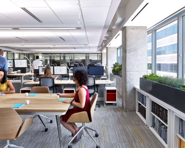 ASID HQ in Washington, Perkins+Will, American Society of Interior Designers, green office space, green interior, green architecture, air quality, sensors, resource efficiency, LEED Platinum