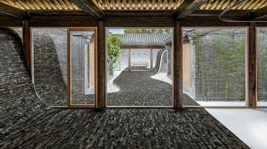 Arch Studio, Twisting Courtyard House, Ying Yang House, Black And White  Homes,