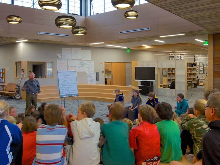 Aspen Community School by Studio B, Aspen Community School, Aspen Community School Colorado, Studio B school renovation, Aspen solar powered school, solar powered primary school,