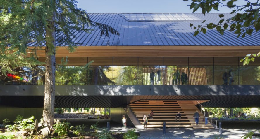 Audain Art Museum, Patkau Architects, museum, British Museum, metal facade, wooden cladding, green architecture, flooding, glass walkways, British Columbia