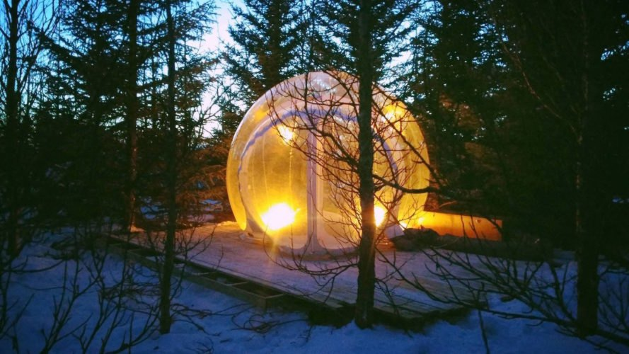 best place to see the northern lights, northern lights iceland, glamping in iceland, camping in iceland, bubble hotel, bubble hotel iceland, bubble hotel northern lights, 5 million star hotel