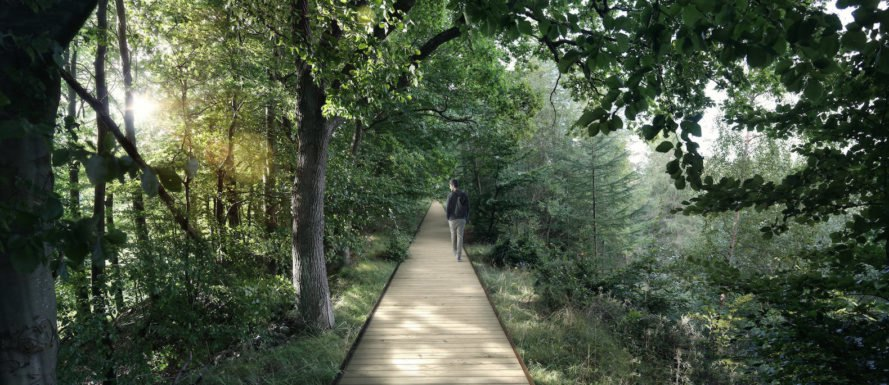 Camp Adventure Treetop Experience by EFFEKT, Camp Adventure Treetop Experience, Camp Adventure Denmark, adventure park forest, Camp Adventure observation tower, Camp Adventure treetop walkway, treetop canopy walkway design,
