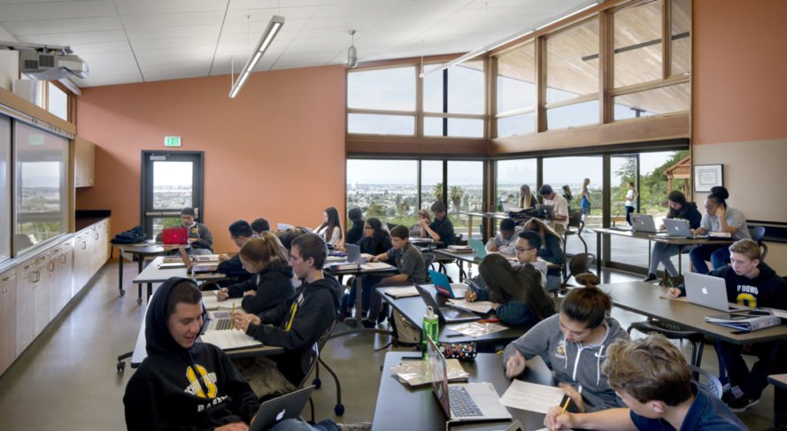 Modular Classroom Manufacturers California ~ This high school in california embodies sustainability at