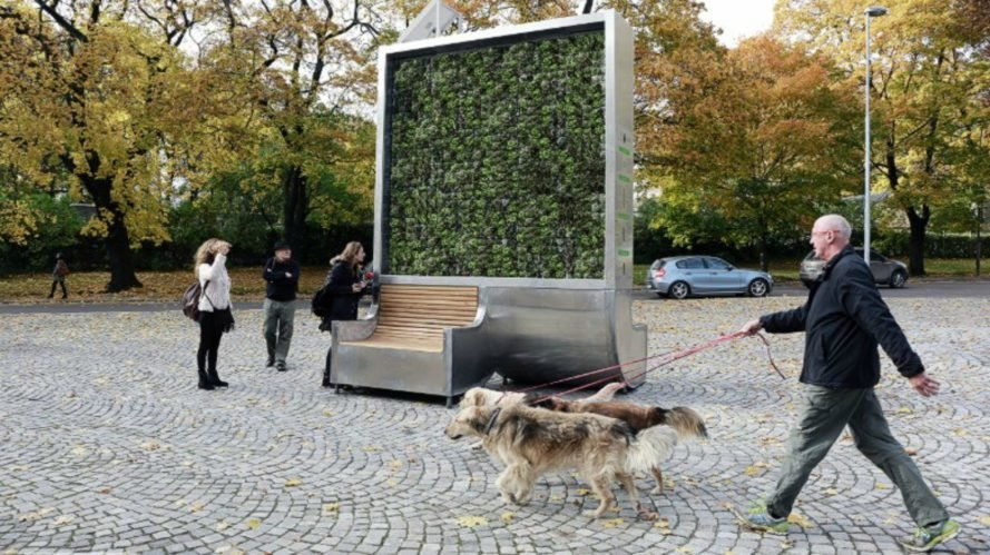 CityTree, Green City Solutions, air pollution, smog, health, innovation, carbon emissions, greenhouse gases