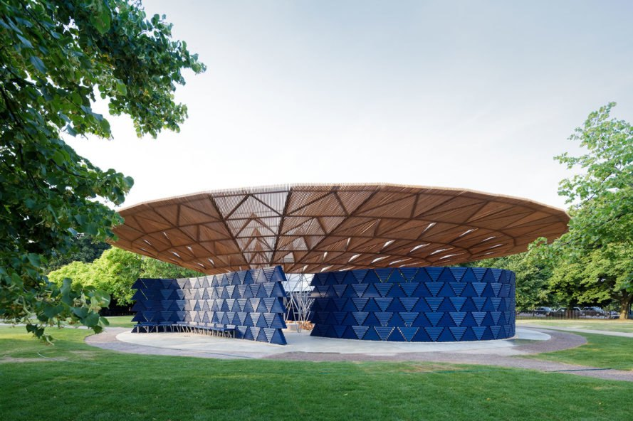 Diébédo Francis Kéré, Kéré Architecture, Serpentine Pavilion by Diébédo Francis Kéré, Serpentine Pavilion, 2017 Serpentine Pavilion, Serpentine Galleries, architecture, design, pavilion, pavilions, temporary pavilion, temporary pavilions, rainwater, rainwater collection, rainwater gathering, London, Burkina Faso