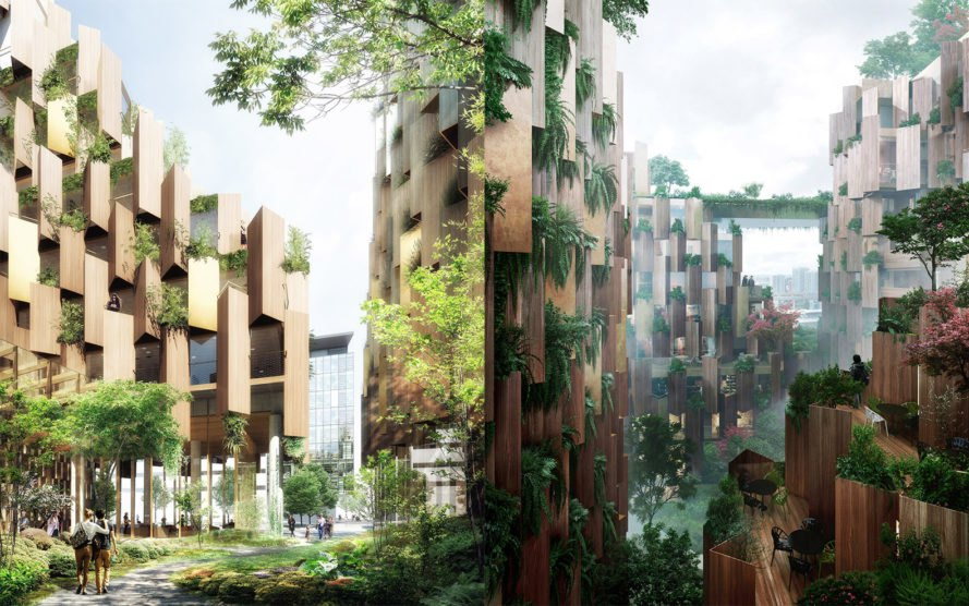 kengo kuma unveils nature filled eco luxury hotel for paris inhabitat green design. Black Bedroom Furniture Sets. Home Design Ideas
