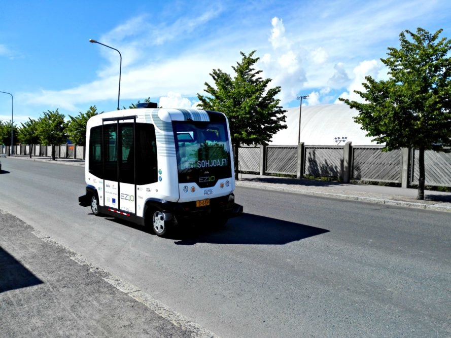 Finland, Helsinki, self-driving, bus, vehicle, electric,