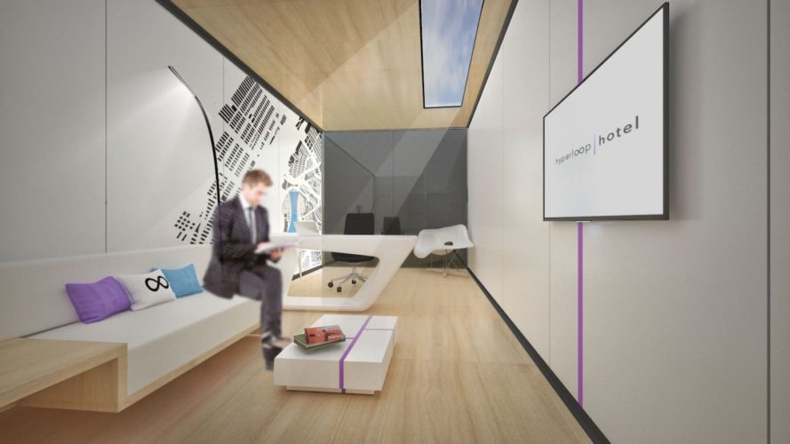 Hyperloop Hotel by Brandan Siebrecht, Radical Innovation Award winner, Radical Innovation Award hotel students awards, Hyperloop Hotel, Hyperloop Hotel cities, shipping container hotel, futuristic hotel design,
