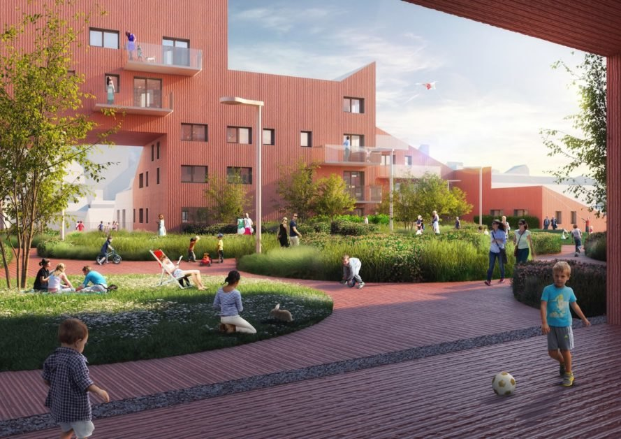 Ilot Queyries by MVRDV, Bordeaux new masterplan, Bordeaux modern development, Ilot Queyries, Ilot Queyries masterplan, ZAC Bastide-Niel, Ilot Queyries by Flint, French modern masterplan
