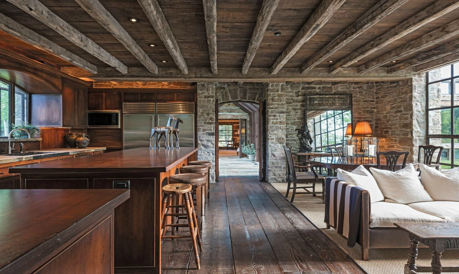 Dilapidated 1800s dairy barn resurrected into a stunning for Kitchen jackson hole