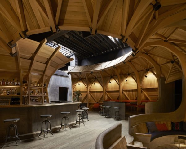 Kinfolk 94 by Berg Design Architecture, Kinfolk Williamsburg, Kinfolk 94 architecture, Kinfolk architecture, Kinfolk on Wythe Avenue, Kinfolk and Buckminster Fuller, timber geodesic dome, timber geodesic shell,