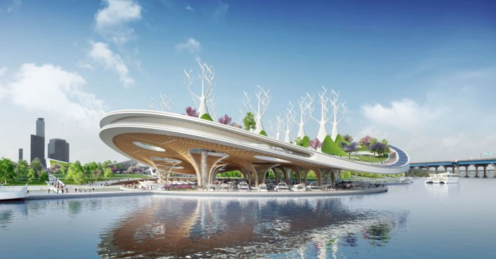 This gigantic floating Manta Ray could naturally purify Seoul's river