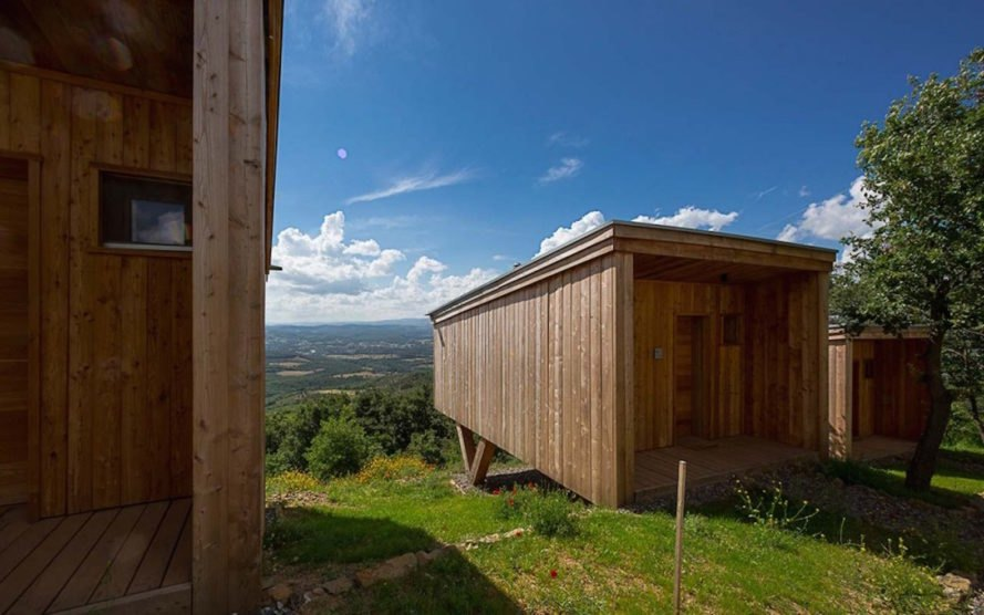 Monastery guesthouses by Edoardo Milesi & Archos, monastery guesthouses, Siloe monastery, Siloe monastery guesthouses, Grosseto guesthouses, low impact architecture, low impact guesthouse, guesthouse built of recyclable materials