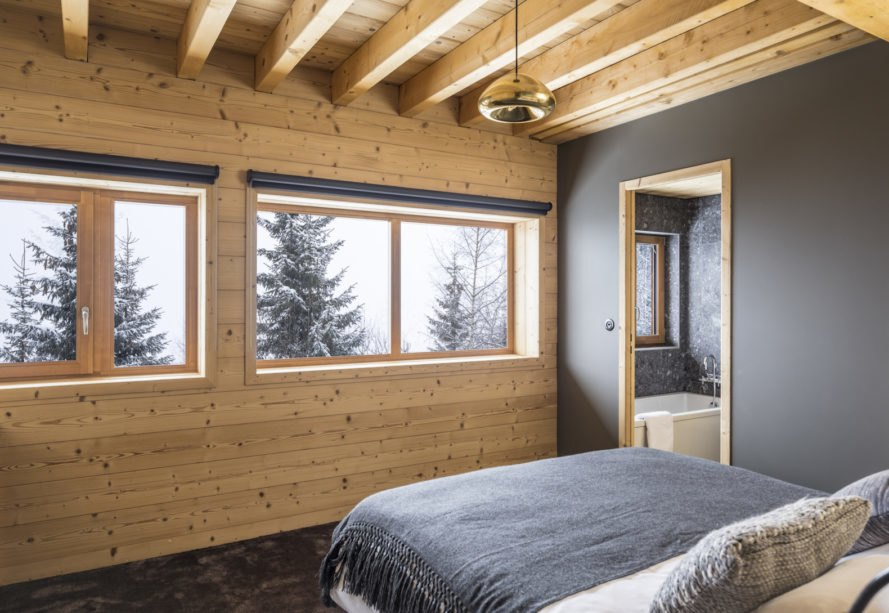 Mountain Home by Studio Razavi, contemporary chalet, modern chalet, pine wood chalet, innovative code compliant architecture, pine clad homes, timber minimalist home, modern timber architecture