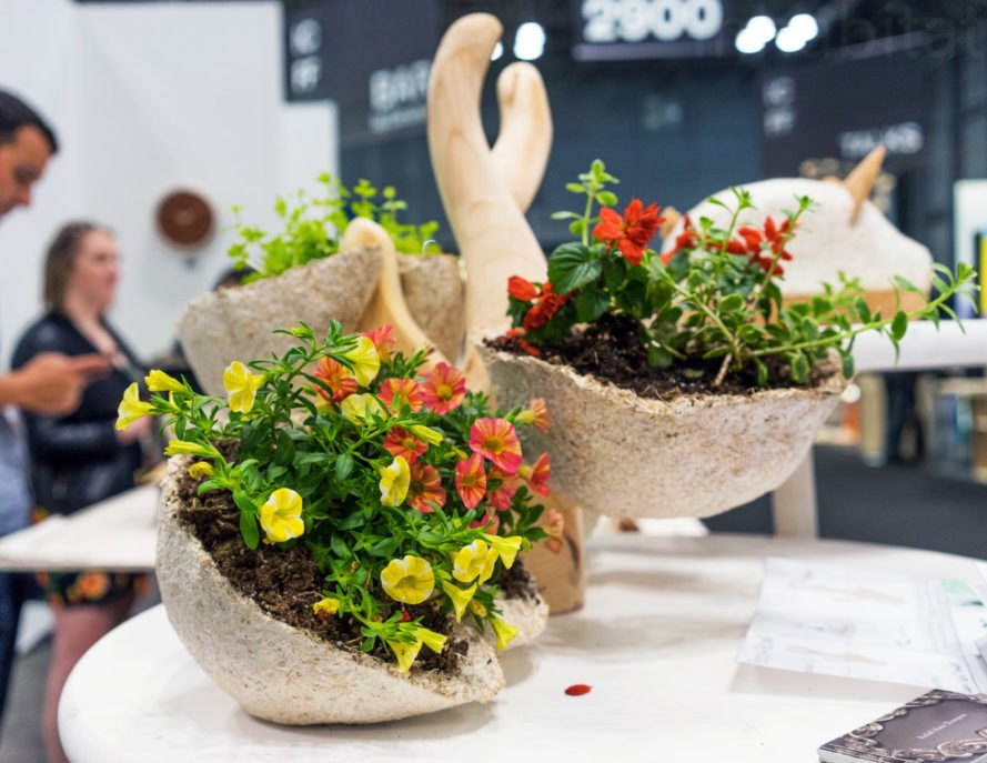 Mushroom Planter, Michael Graves College, Ecovative, green design, sustainable design, design, products, green interiors, interior design, green furniture, green furnishings, eco design, green interiors, new york design week, nycxdesign, ny design week, icff