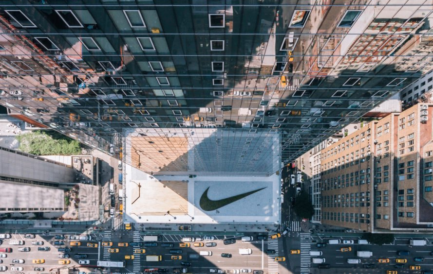 Nike New York Headquarters, Nike New York City, Nike and Miniwiz, Nike NYC headquarters, indoor basketball court in office, office VW van, creative open plan office,
