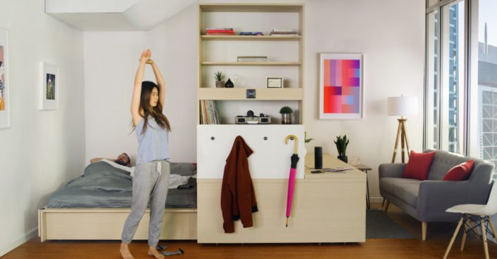 Yves b har 39 s shapeshifting ori furniture transforms your home at the touch of a button - Shape shifting house ...
