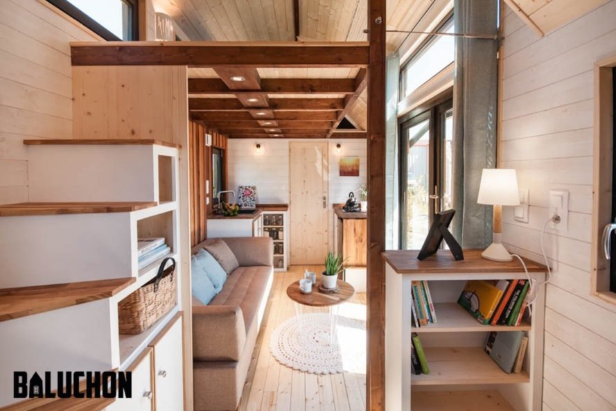 ostara tiny house by baluchon inhabitat green design innovation architecture green building. Black Bedroom Furniture Sets. Home Design Ideas