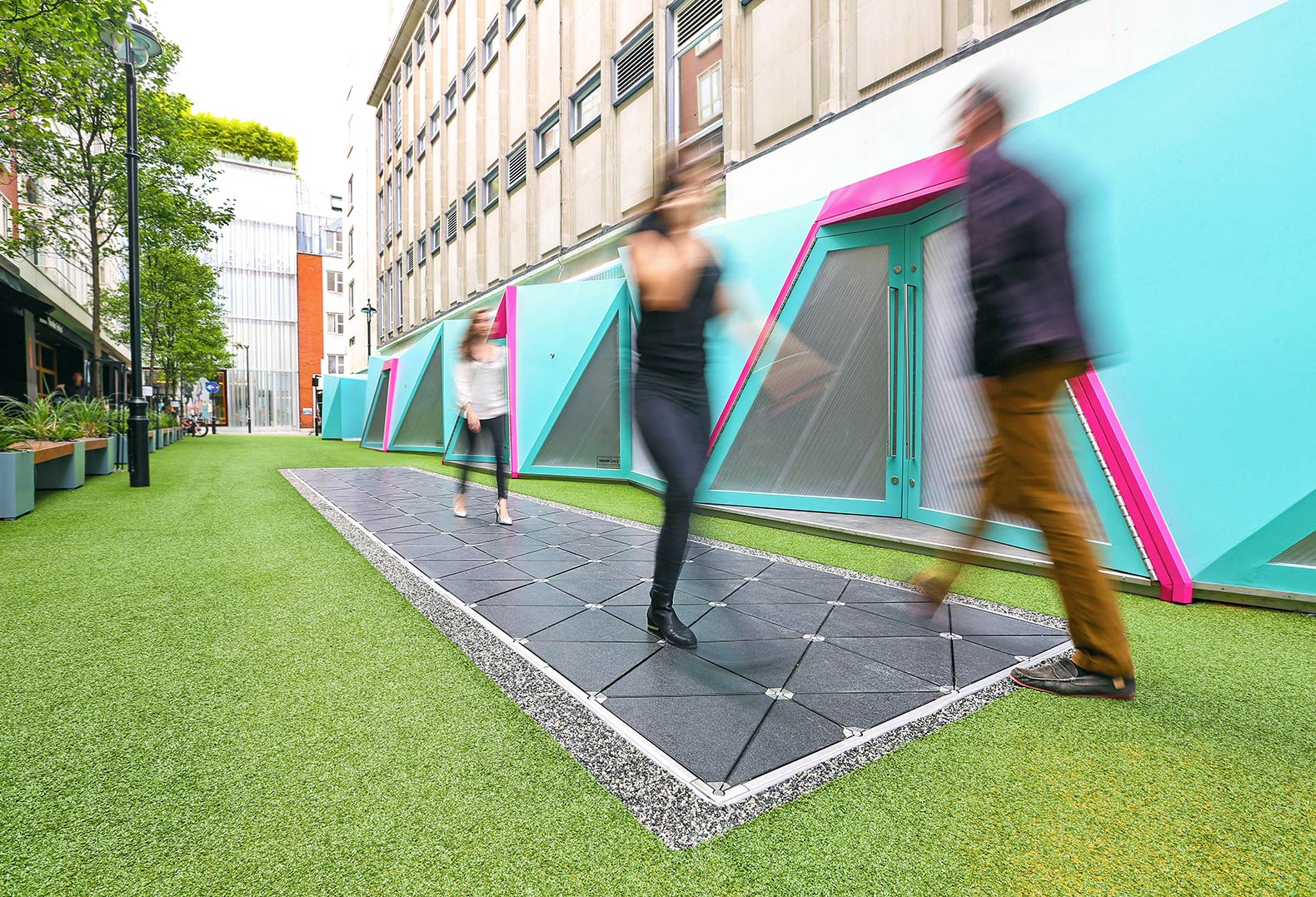 Pavegen unveils world's first energy-harvesting smart street in London