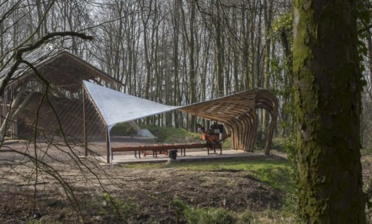 Brilliant Woodland Pavilion Pushes The Envelope Of Timber
