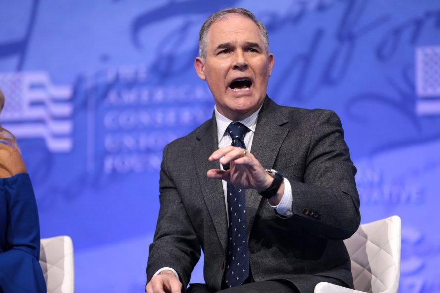 Scott Pruitt, Pruitt, Environmental Protection Agency, EPA, Donald Trump, Trump administration, Andrew Liveris, Dow, Dow Chemical, chlorpyrifos, pesticide, pesticides, environment, politics