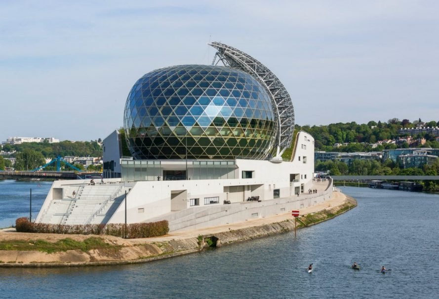 Shigeru Ban, Jean de Gastines, Solar-Powered Seine Musicale, seine music pavilion, solar power, solar power paris, paris architecture, paris music pavilion, seine music pavilion, timber buildings, timber architecture, timber buildings france, solar panel mobile sail,