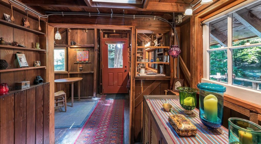 Sonoma tiny house, Vanguard Properties, tiny house, treehouse, green architecture, wooden deck, canopy, California