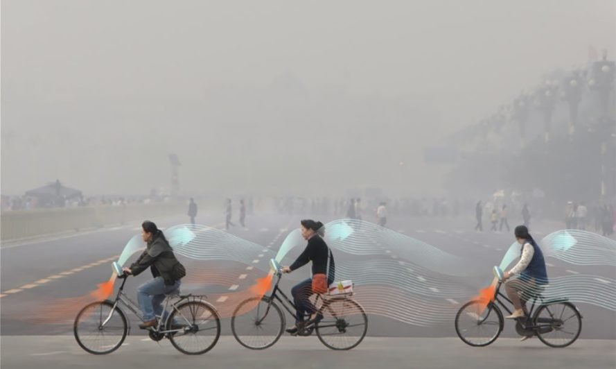 Studio Roosegaarde, Daan Roosegaarde, smog-free, bicycles, China, Beijing, pollution, air pollution,