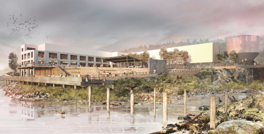 Willamette Falls riverwalk, Willamette Falls riverwalk competition, Willamette Falls riverwalk by Snøhetta, riverwalk design by Snøhetta, Willamette Falls public access, Willamette Falls environmental protection,
