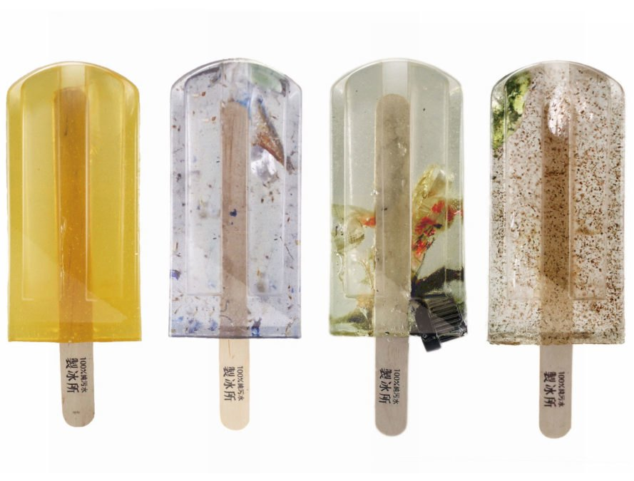 Polluted Water Popsicles, Taiwan, water pollution, sewage, National Taiwan University of Arts
