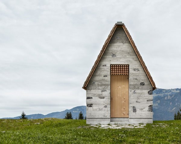 Wirmboden chapel, Innauer-Matt Architects, chapel, Austria, locally sourced stone, natural building materials, natural light, spruce, stone, green architecture, tiny buildings