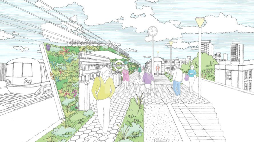 Camden Highline, railway, public park, High Line, Camden Town Unlimited, crowdfunding campaign, green architecture, green renovation, public spaces, community garden