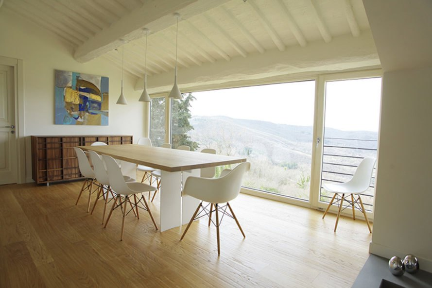 Chianti Hills Farmhouse By Lenzi + Baglini Architetti, Renovated Farmhouse,  Adaptive Reuse Farmhouse,