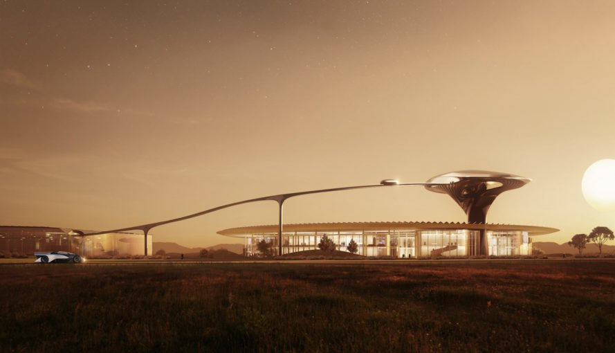 Faraday Future headquarters by MAD Architects, Faraday Future campus, Faraday Future relocating, Faraday Future FF91, Faraday Future electric cars, Faraday Future headquarters, Faraday Future Mare Island, Mare Island zero emissions