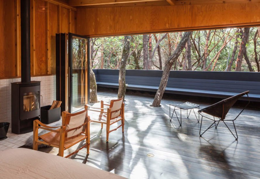 Forest House by Envelope A+D, Forest House by Envelope Architecture + Design, Forest House in Northern California, holiday retreat california, unconventional holiday retreat, holiday home in Mendocino county, tent cabins