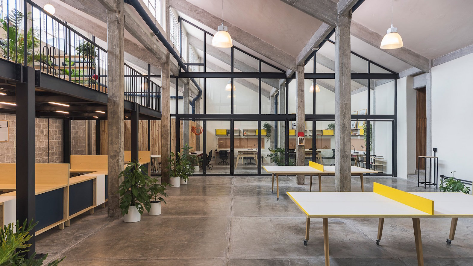 Beautiful Co Working Space Takes Over A Former Industrial Factory In Mexico  City