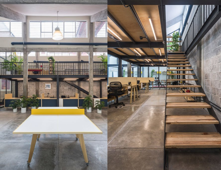 Guateque by Estudio Atemporal, Guateque Mexico City, Guateque co-working space, contemporary co-working spaces, co working spaces adaptive reuse, Mexico City co-working spaces, co-working spaces in old factories, industrial factory adaptive reuse
