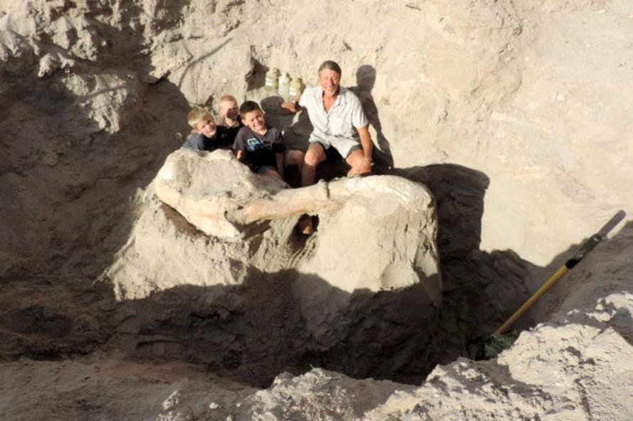 Jude Sparks, Stegomastodon, fossil, hiking, 9-year-old, Peter Houde, discovery,