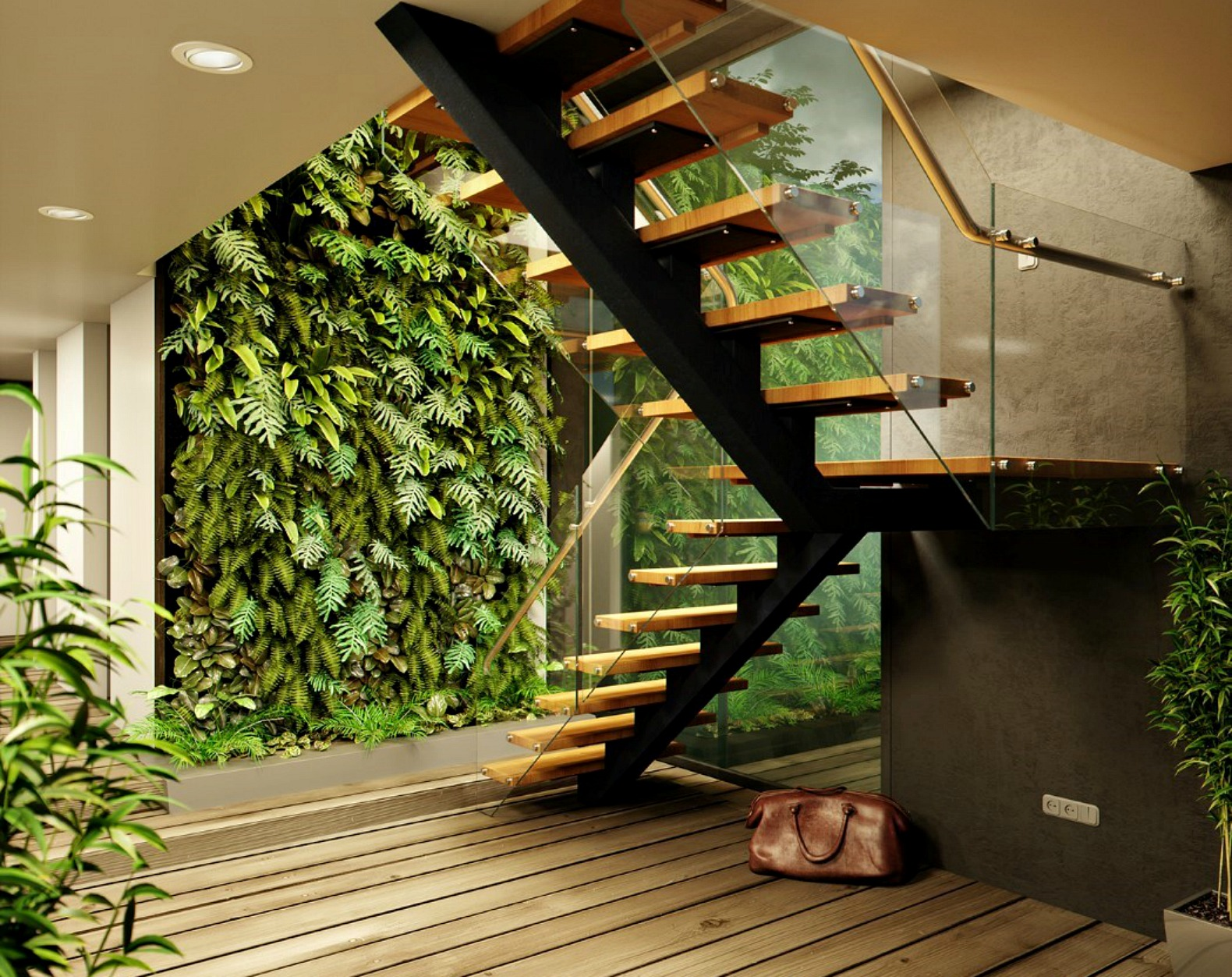 Greenhouse-like \'cabin in the woods\' features lush vertical gardens ...
